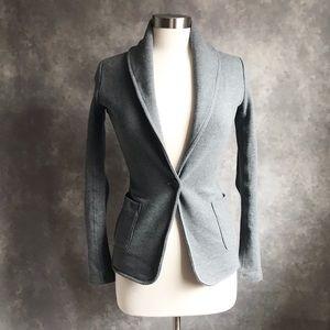 James Perse Old School Gray Shawl Collar Jacket S